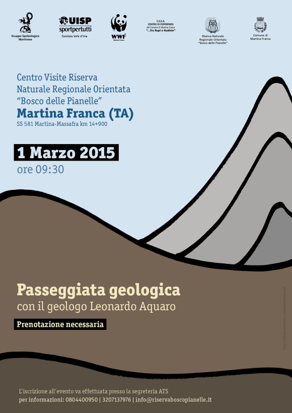 Locandina passeggiata geologica