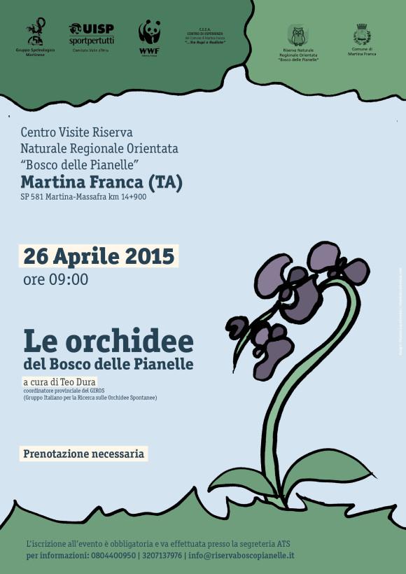 Le orchidee del Bosco delle Pianelle | Locandina