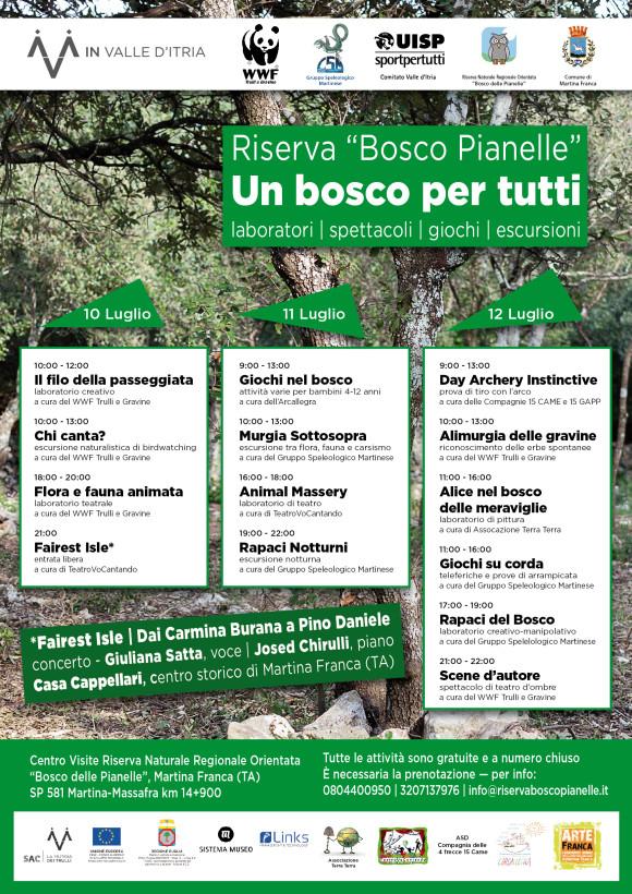 """Locandina """"Un bosco per tutti"""""""